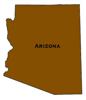 Map Arizona delivery area for pond supplies