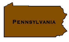 Map Pennsylvania delivery area for pond supplies